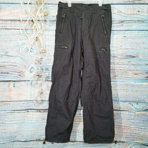 Express Utility Cargo Black Cotton Pants 30